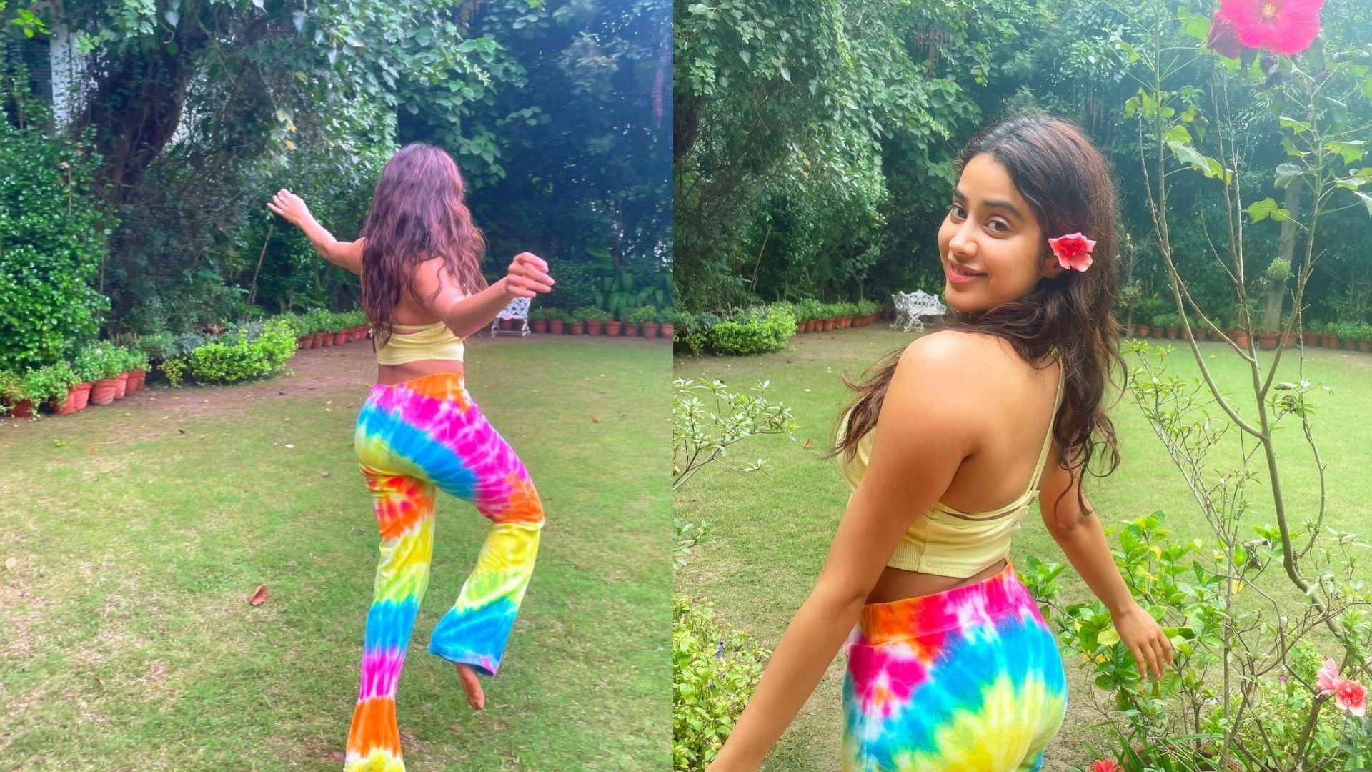 Janhvi Kapoor Looks Heedless As She Poses Like A Free Bird Dancing Around Nature – See Enchanting Photos