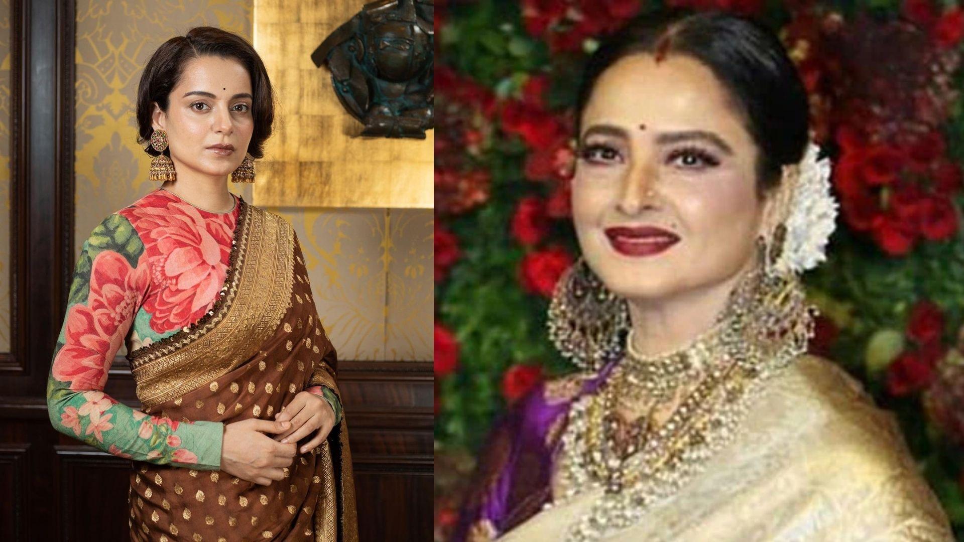 Kangana Ranaut Wishes Her 'Godmother' Rekha On Her Birthday; Shares Pic From Virat Kohli-Anushka Sharma's Reception