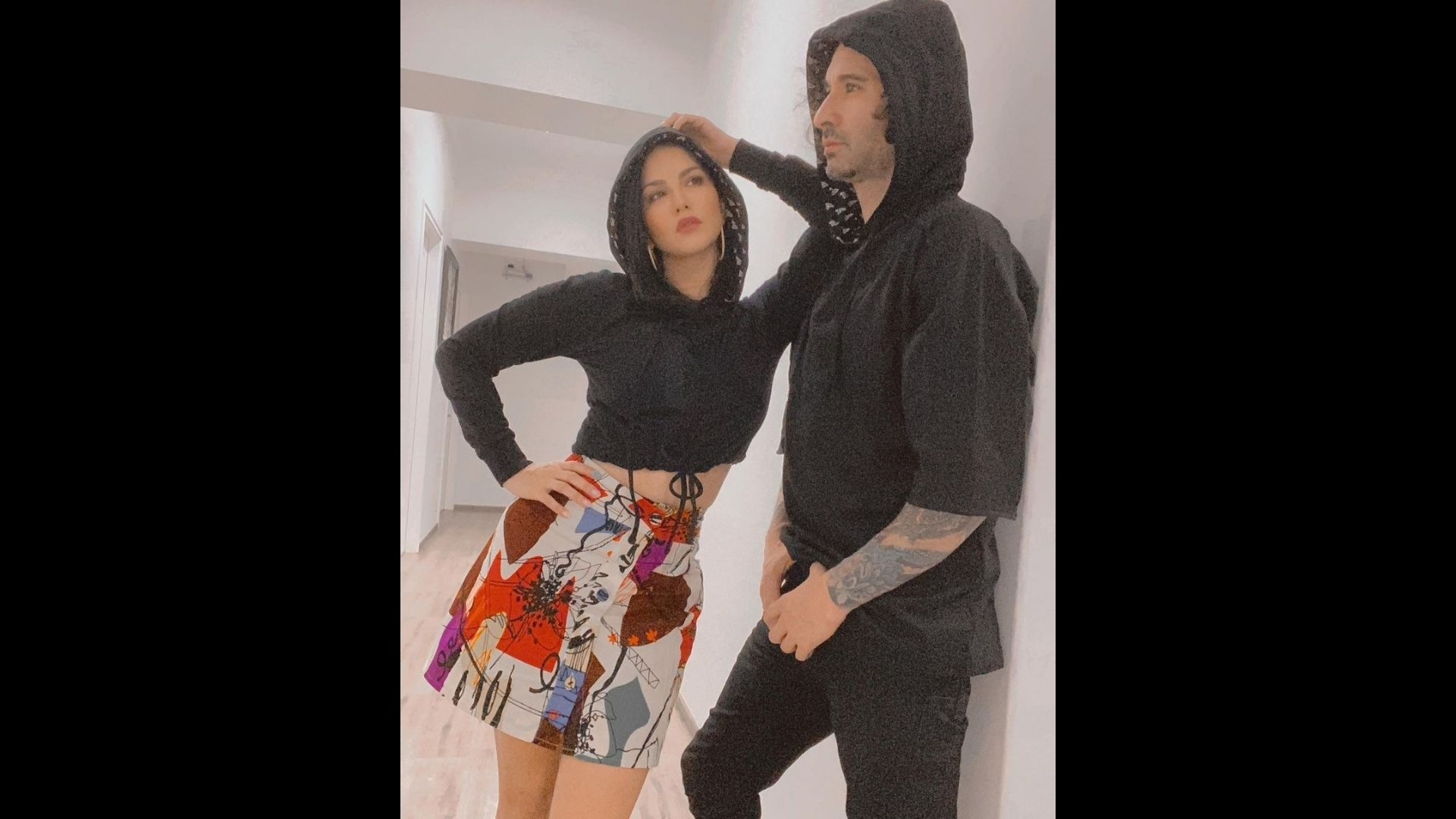 Sunny Leone Oozes Hotness In Her Cropped Hoodie And Printed Skirt; Shares Date Night Photos On Gram With Her Husband Daniel Weber