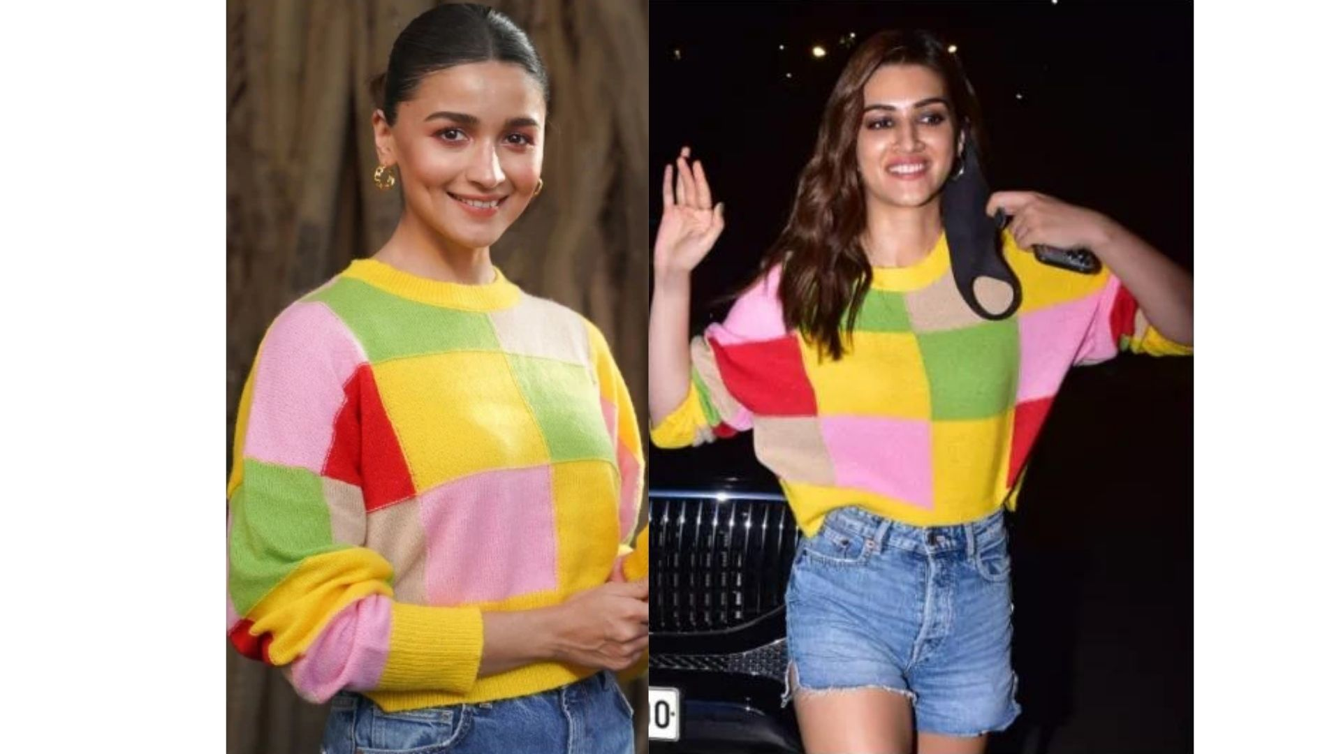After Kriti Sanon, Alia Bhatt Nails The Yellow Sweater Look- But Who Styled It Better?