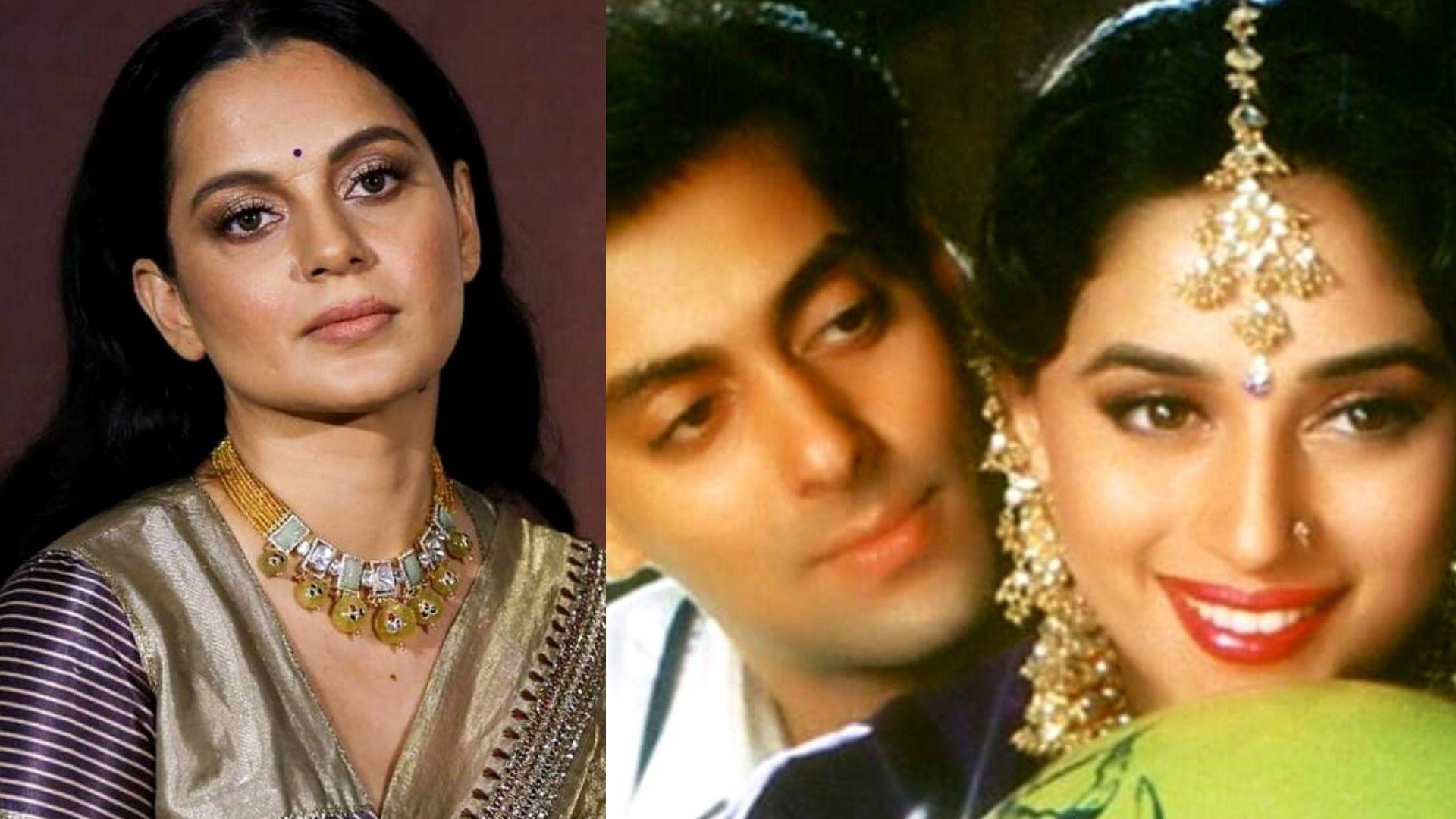 Kangana Ranaut Is All Hearts On Madhuri Dixit And Salman Khan's Video From Hum Aapke Hai Kaun