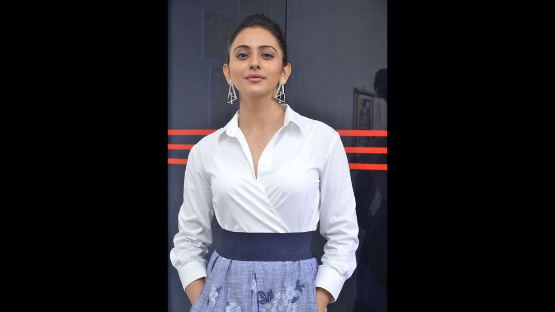 Rakul Preet Singh Flaunts Her Chic White Shirt And Printed Leggings Outside RSVP Office; New Movie On Cards?