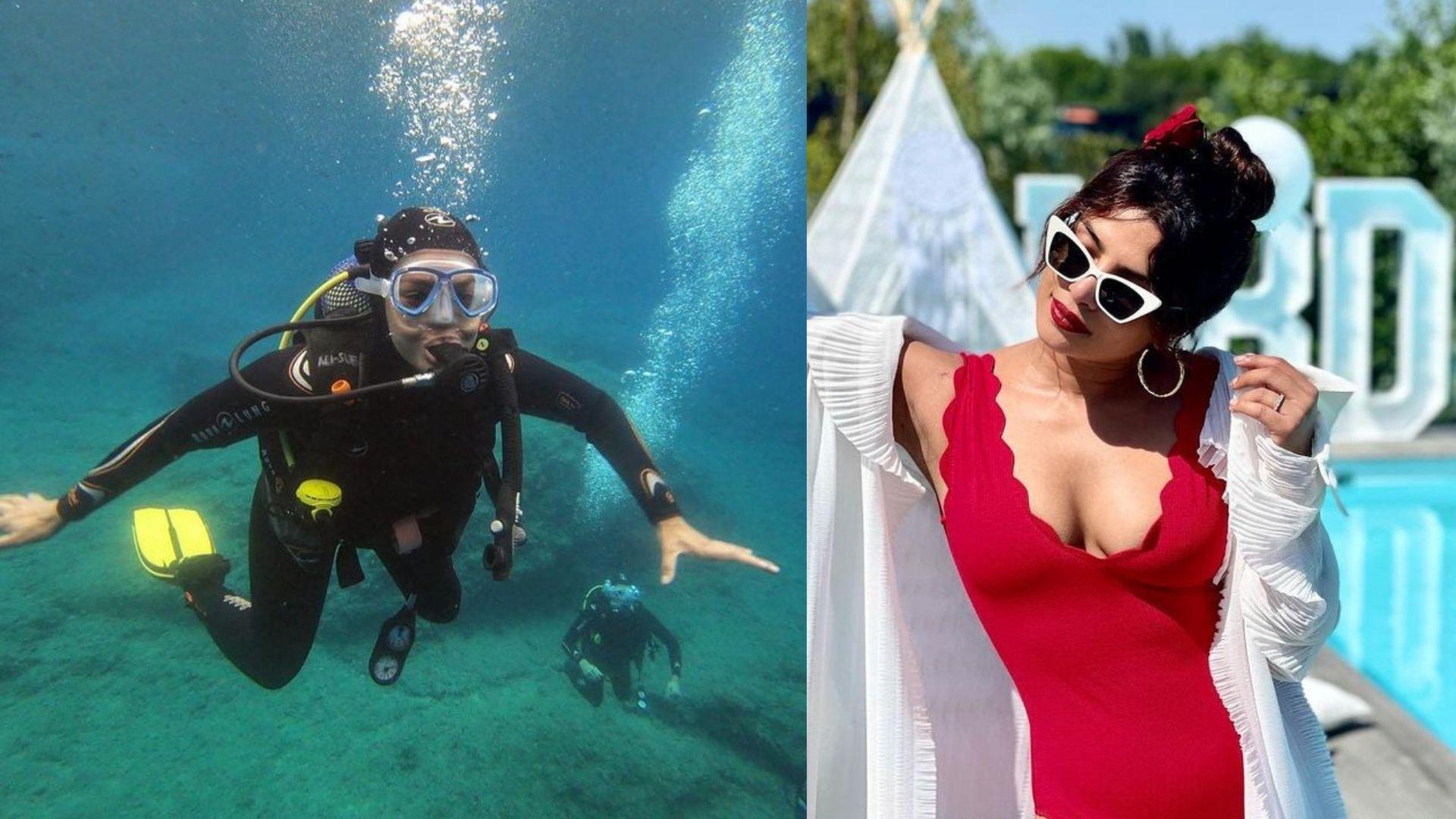 Priyanka Chopra Jonas Explores 'Glorious Underwater Creations Of God' In Blue Waters Of Spain; See What Parineeti Chopra Has To Say