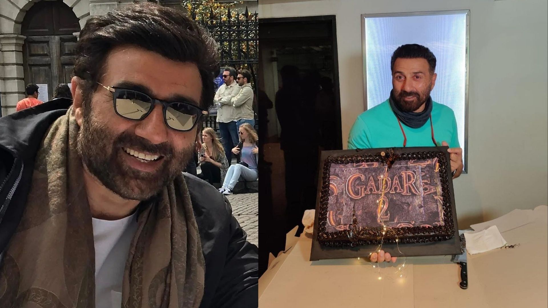 Sunny Deol Birthday: Actor Celebrates His 65th B'day With Crew Of Upcoming Film; Gadar Cake Is The Hero Of Celebration