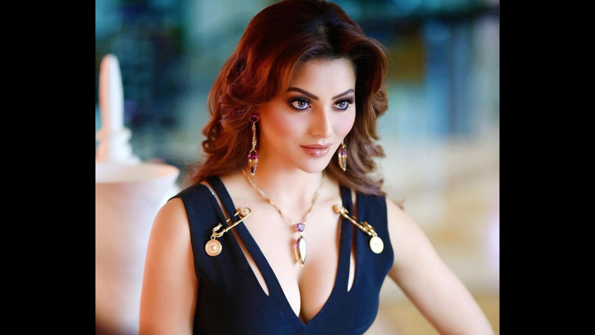 Oo La La! Urvashi Rautela Makes Heads Turn In A Golden Deep Neck Gown; We're Stunned To Know How Costliest The Gown Is- EXCLUSIVE