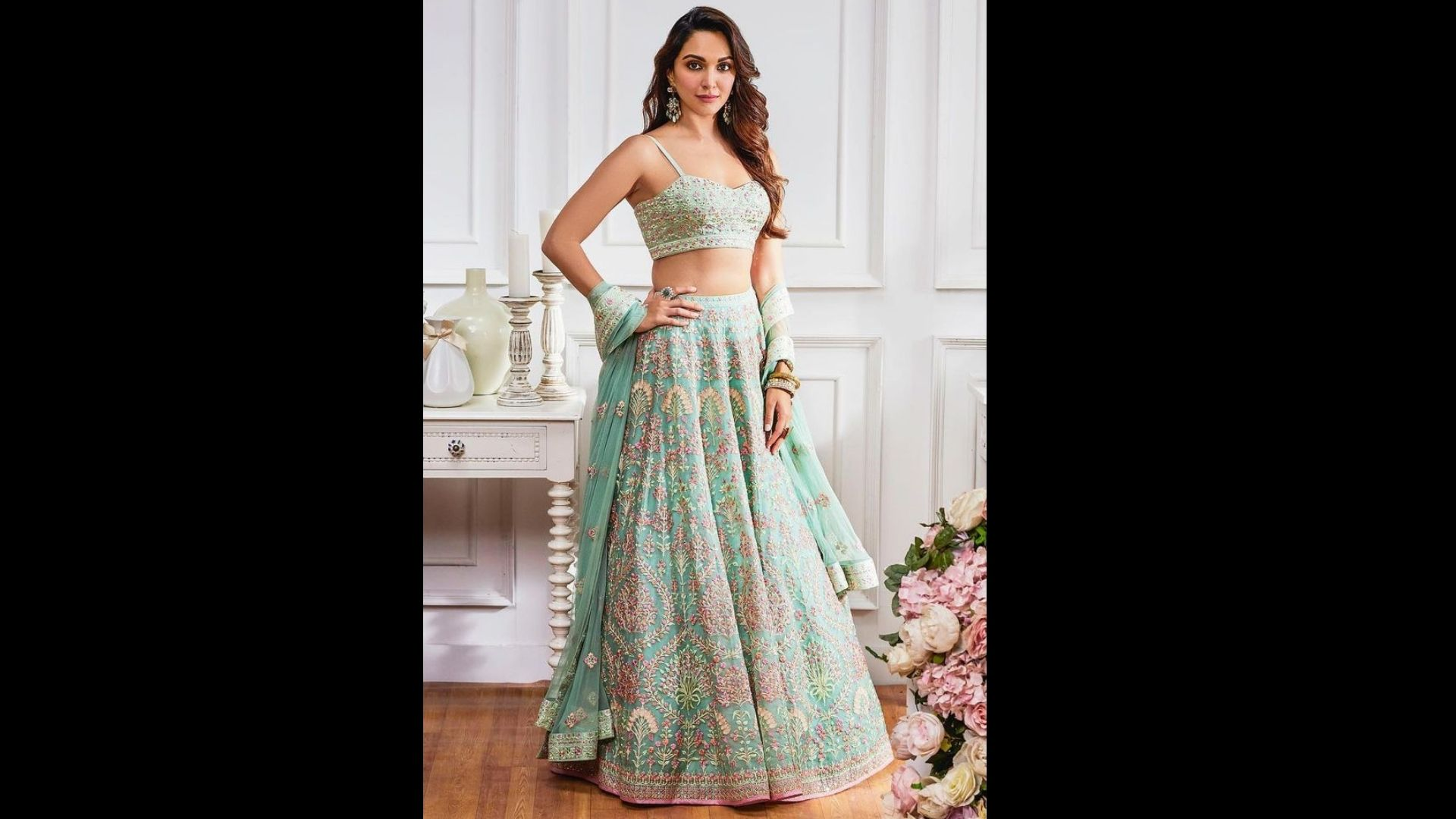 Kiara Advani Will Make You Ditch Red This Karwa Chauth And Don This Aqua Lehenga; Its Price Will Burn A Hole In Your Pocke