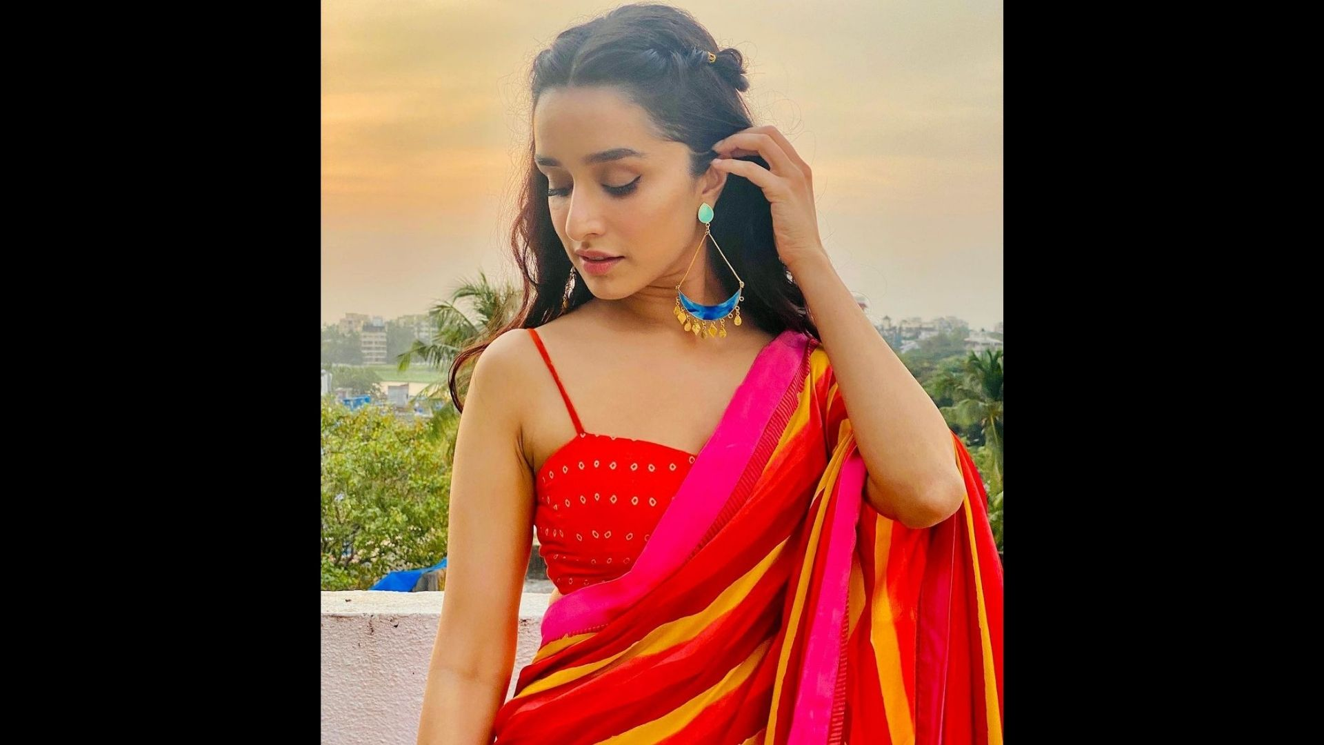 Shraddha Kapoor's Sunset Hued Saree Will Make You Want To Ditch Your Karwa Chauth Outfit For This One – Yay Or Nay?