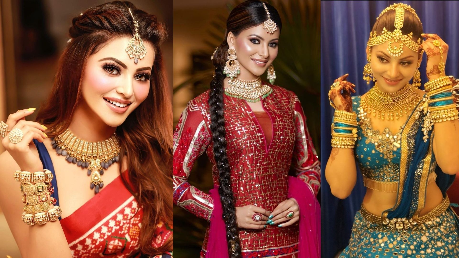 Karwa Chauth 2021: Urvashi Rautela's Top 3 Traditional Looks That Are Perfect To Wear On The Festival