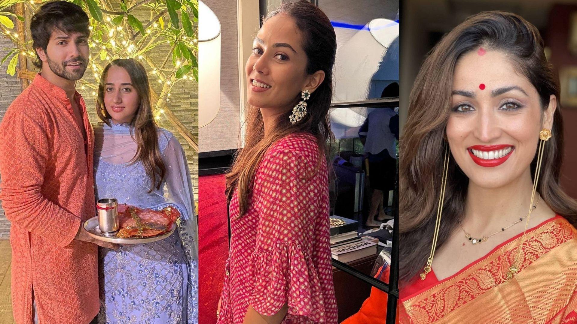 Karwa Chauth 2021: Here's How Varun Dhawan, Natasha Dalal, Yami Gautam Dhar And Mira Rajput Celebrate The Auspicious Occasion