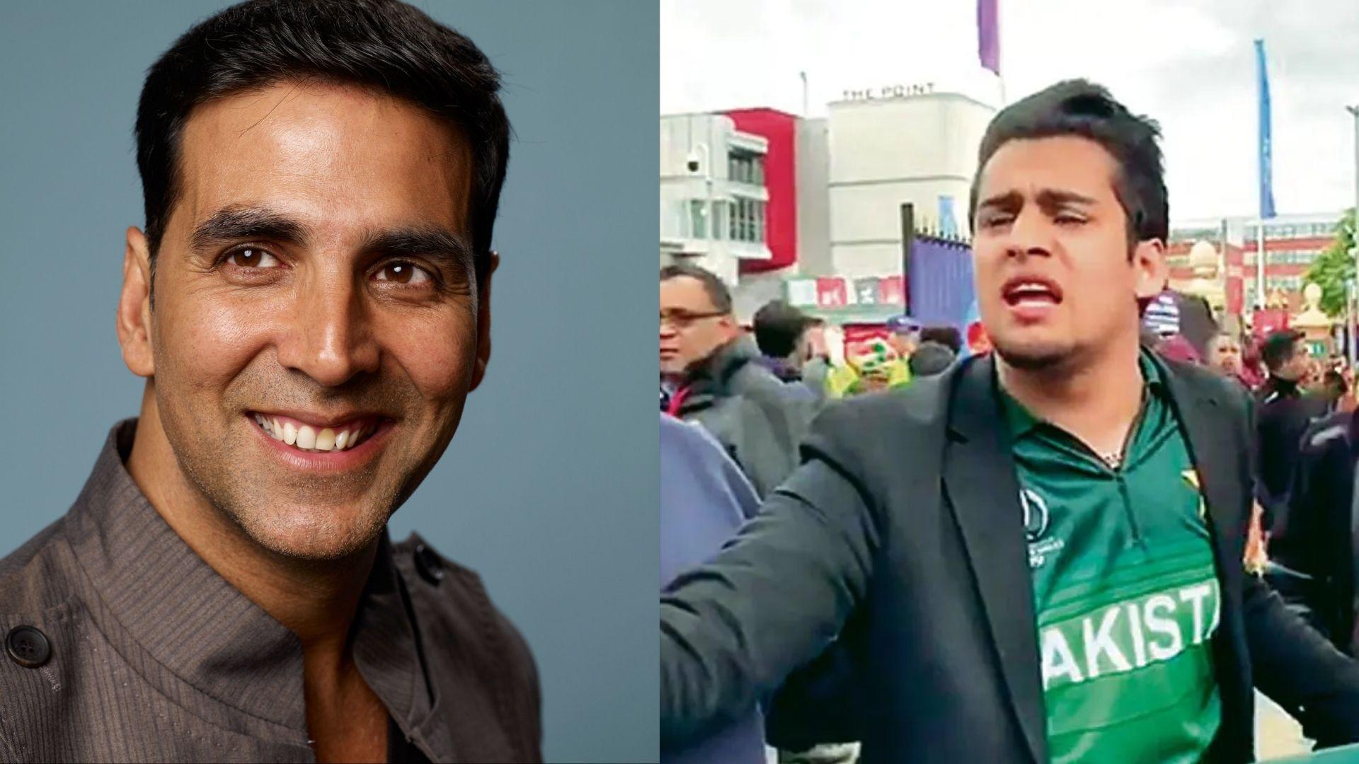 India Vs Pakistan T20 Match: Akshay Kumar Gets Snapped Jabbing With The Pakistani Meme Boy