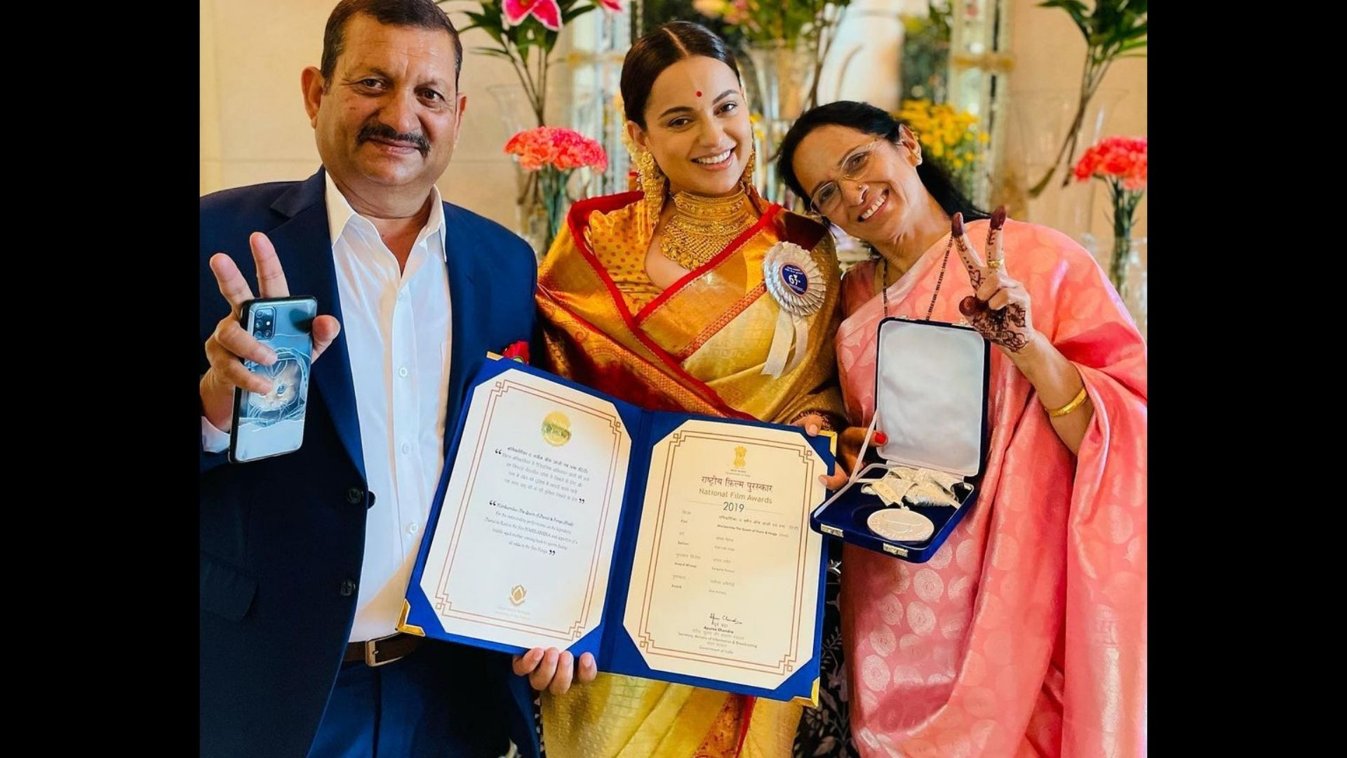 67th National Awards: Kangana Ranaut Recieves Her Fourth National Award For The Best Actress Title For Manikarnika And Panga