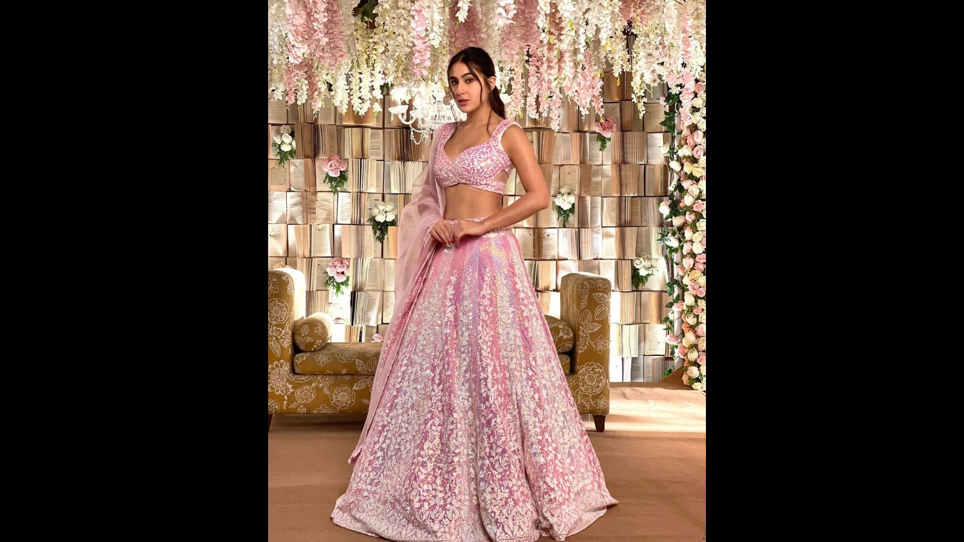 Sara Ali Khan Channels Her Inner Diva; Her Lehengas Are Perfect For Your Next Wedding Outing