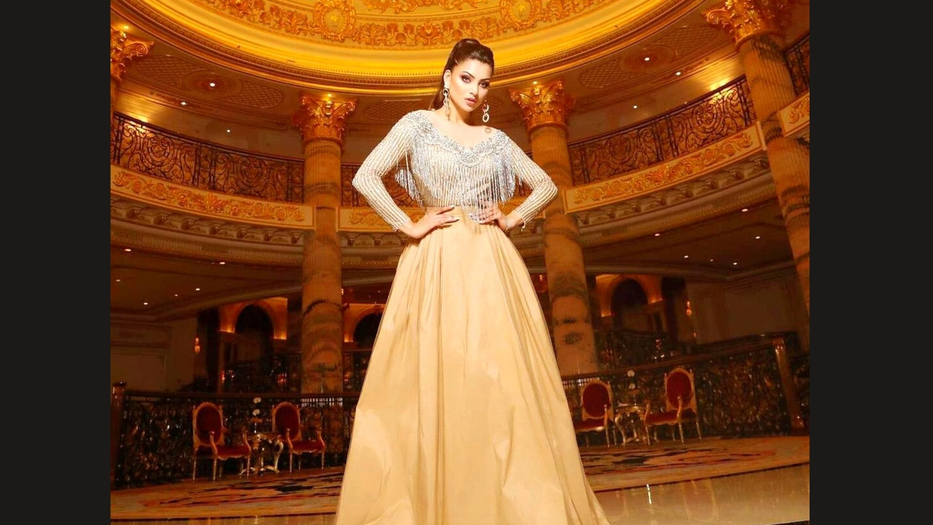 Urvashi Rautela Shows Off Her Luxurious Golden Fringe Tassel Embellished Gown That You'd Want To Own RN