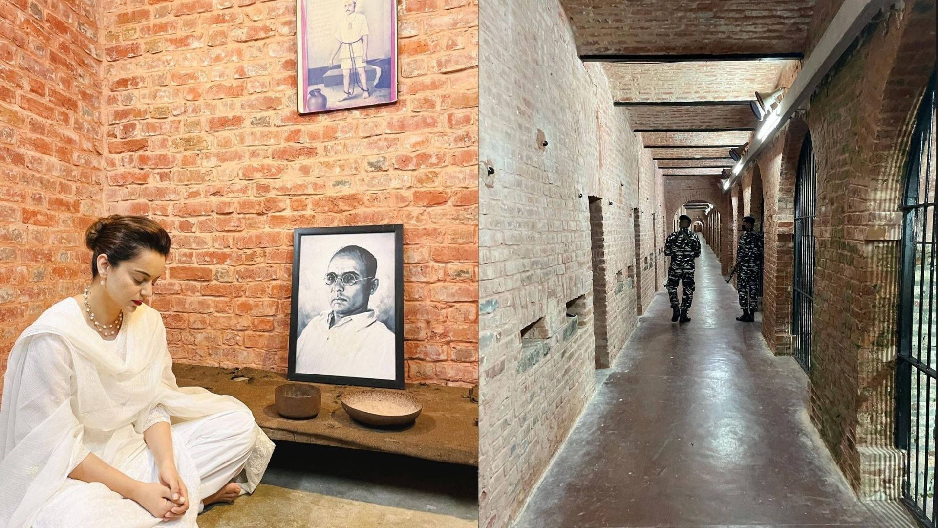 Kangana Ranaut Visits Cellular Jail In Kala Pani Amid Tejas Shoot To Pay Gratitude To Veer Savarkar Ji