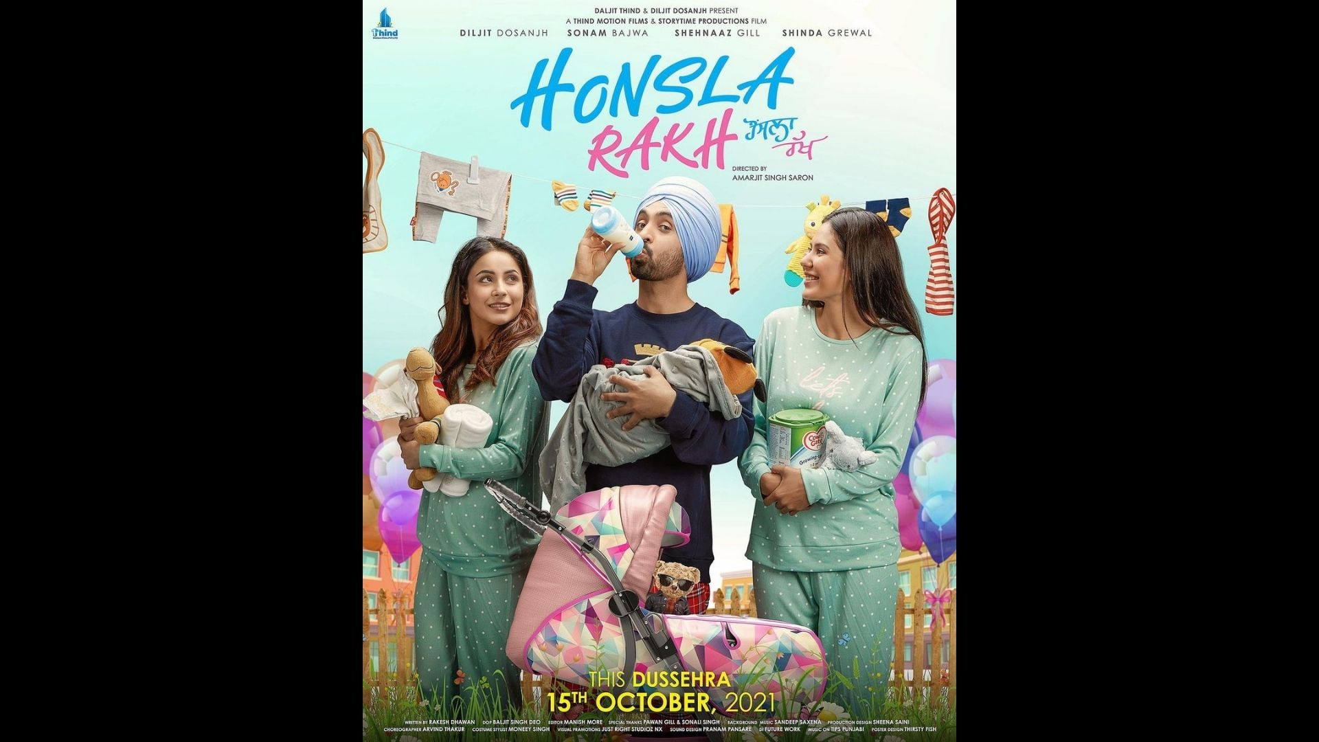 Honsla Rakh New Poster: Shehnaaz Gill's Co-star Diljit Dosanjh Goes Out Of His Way To Play The Role Of A Father