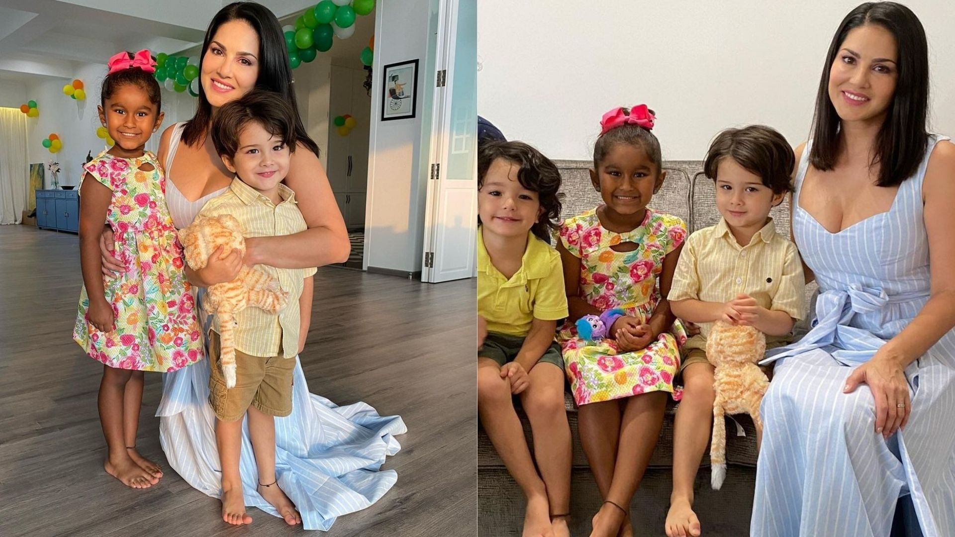 Sun-Day Is A Fun-Filled Day For Sunny Leone With Her Kids; Check Out The Adorable Images