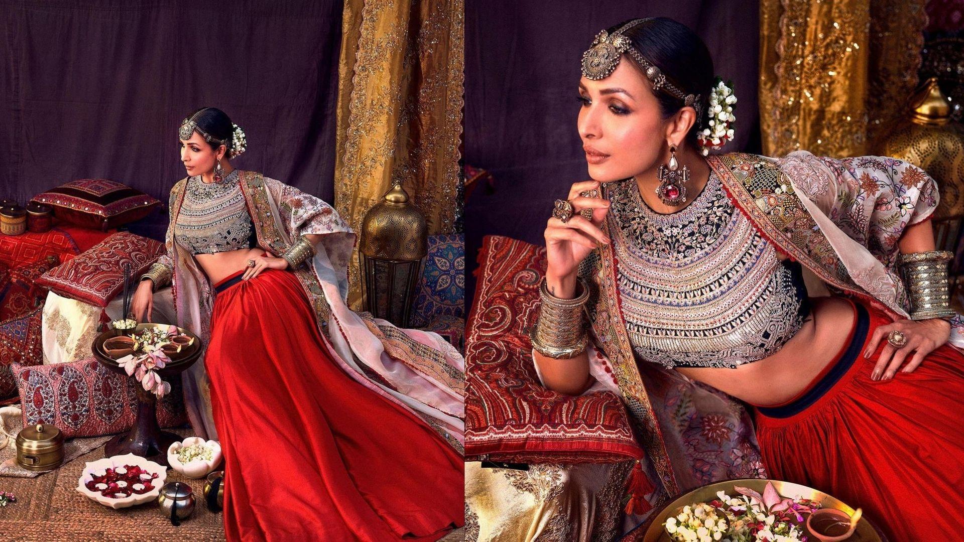 Lakme Fashion Week Grand Finale: Malaika Arora Flaunts A Bookmark Worthy Bridal Look; Fans Love Her Royal Attire
