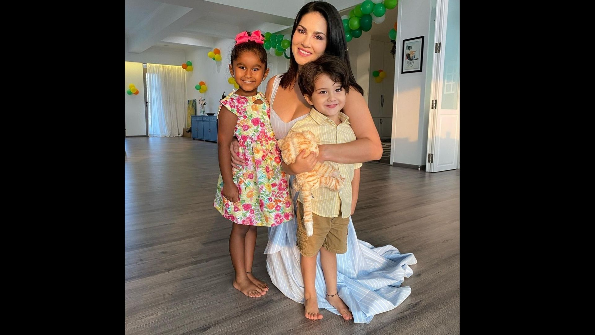 Sunny Leone Celebrates Daughter Nisha's Birthday From Their New House As She Turns Six – SEE PICS