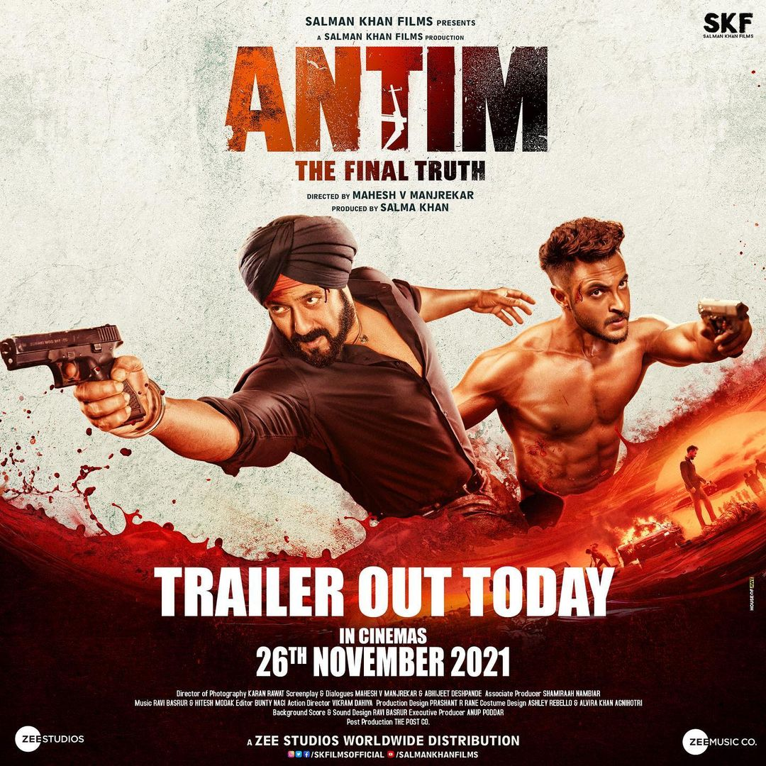Antim: Trailer Of Salman Khan And Aayush Sharma Starrer Film Will Be Out Today